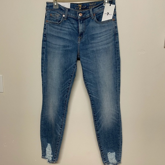 Brand new 7 For all Mankind the ankle skinny jeans